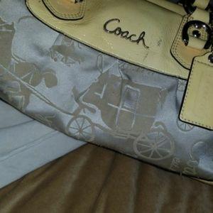Coach authentic small tan purse